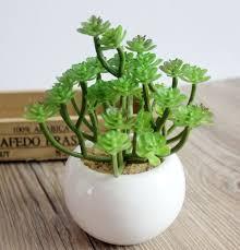 one set artificial succulent plants artificial miniascape bonsai