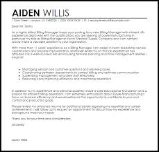 billing collections cover letter