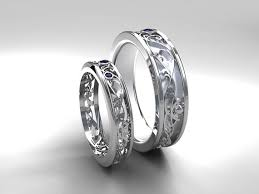 white gold wedding band sets wedding band set white gold sapphire wedding band mens