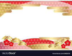 new years card a japanese new years card template royalty free vector image