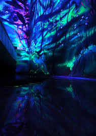 fluorescent paint u2013 creative wall painting with night lights ends