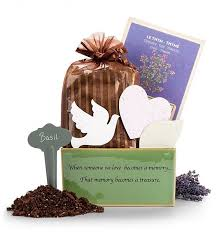 gift baskets sympathy sympathy grows memory garden gift