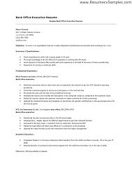 executive resume exle back office resume paso evolist co