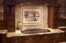 kitchen backsplash tiles appliances white cabinets black granite countertops white subway