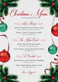 christmas menu template that u0027s design store