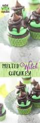 melted witch cupcakes to make for halloween so cute and so easy