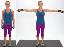 lateral arm raise best dumbbell arm exercises popsugar fitness
