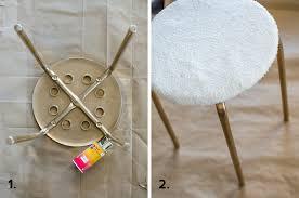 clumsy chic diy fur stool