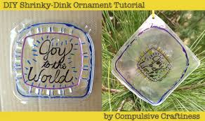 shrinky dink ornaments family crafts