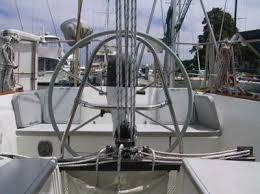 Edson Pedestal Guard Pedestal Guard And Mainsheet Traveler Morgan 38 Sailboat Forum