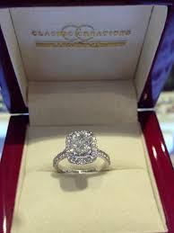 Cushion Cut Halo Diamond Engagement Ring In Platinum 130 Best Rings Images On Pinterest