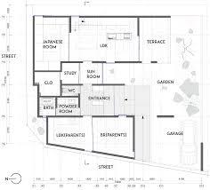 three overlapping blocks make up keitaro muto u0027s sunomata house
