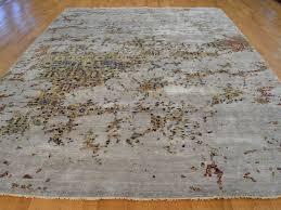 2x4 Rug 10 U0027 X 14 U0027 Hand Knotted Art Silk Modern Broken Design Oriental Rug