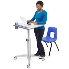 Portable Standing Laptop Desk by Standing Desk Megastore Height Adjustable Desks Sit Stand Com