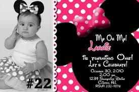 minnie mouse birthday invitations personalized cimvitation
