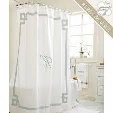 White Linen Shower Curtain Linen Banded White Shower Curtain Regarding Comely White Linen
