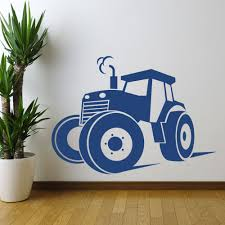 online get cheap wall mural sticker tractor aliexpress com hot tractor farm silhouette wall art sticker decal home diy decoration decor wall mural removable bedroom