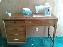 vintage wood desk vintage singer 600 sewing machine in wood desk cabinet