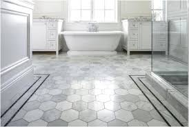 flooring gray penny rounds on bathroom floor and shower 3x6