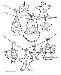free printable christmas ornaments coloring home