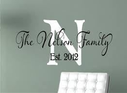 last name monogram personalized family name signs name wall decal monogram vinyl