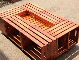 coffee tables wood crate coffee table diy awesome wood crate