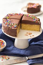 cake for small 6 inch yellow cake for two in the kitchen