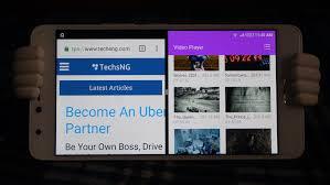 android multitasking split screen multitasking on infinix android phones running nougat