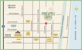 map of delray pineapple grove delray