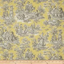 Waverly Upholstery Fabric Waverly Rustic Life Toile Lemondrop Discount Designer Fabric