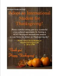 daily eagle adopt an international student on thanksgiving day