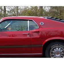 mustang quarter mustang boomerang molding quarter window chrome pair fastback 1969 70