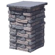 Decorative Cinder Blocks Home Depot Afco 8 Ft X 6 In Aluminum Square Column With Cap And Base