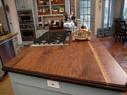 butcherblock solid walnut face grain wood countertop made by