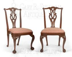 pair of early chippendale dining chairs boston mass clocks