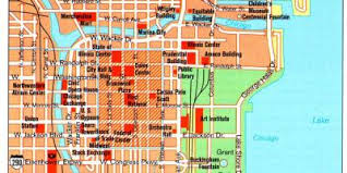 chicago map with attractions chicago map maps chicago united states of america