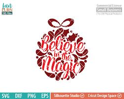 believe in the magic svg glass block ornament svg funlurn svg