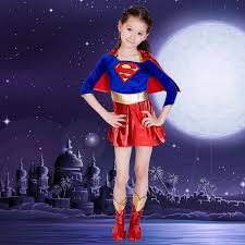 ostumes accessories cosplay costumes kids child girls supergirl