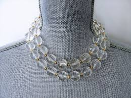 double necklace style images Vintage 50s large faceted lucite bead necklace double strand fancy JPG