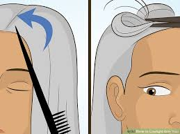 photos of gray hair with lowlights how to lowlight gray hair with pictures wikihow