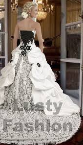 Black And White Wedding Dress Black And White Wedding Dresses 3 Lustyfashion