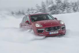 porsche snow driving the 2016 porsche cayenne gts u0026 turbo s the wild winter beasts