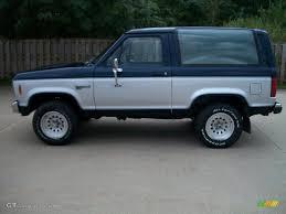 blue bronco car 1988 dark shadow blue metallic ford bronco ii xlt 4x4 54630988