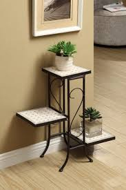 Wooden Patio Plant Stands by Plant Stand Garden Decor Cool Threeer Metal Plant Stand Nice