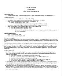 Sample Athletic Resume by Coach Resume Template 6 Free Word Pdf Document Downloads
