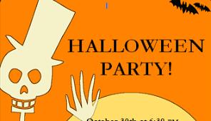 invitation flyer templates free halloween party invitation with pumpkin