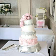 silver wedding cakes silver wedding cakes dove grey and silver leaf wedding cake with