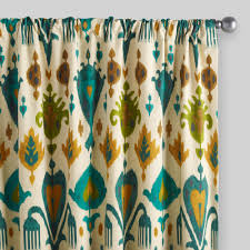 gold and teal ikat aberdeen cotton curtains set of 2 world market