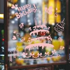 birthday cake shop happy birthday cake window wall decal for cake shop deco