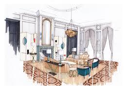 Living Room Design Drawing Interior Design Drawing Room By Abbie De Bunsen Interiordesign